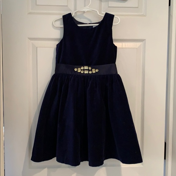 Gymboree Other - Navy velvet dress